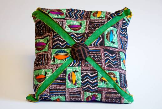 African Print with Birds Pillow