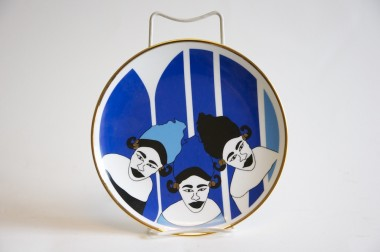 Nguka plate by Fati Ly, Senegal