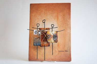 Moussa Tine Mixed Media Painting