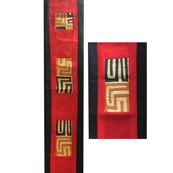 Kuba Cloth Table Runner Wall Hanging