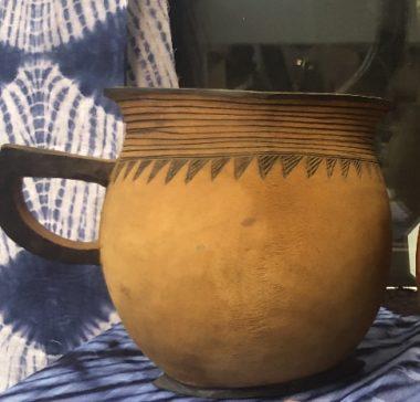 Large wooden beer mug