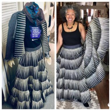 Rama Diaw B&W Long Skirt