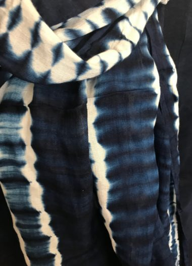 IndigoScarf tiedye stripes 3d