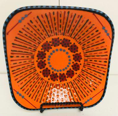 Potters Orange plate
